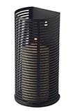 Ubi 6222 A black mat halfround